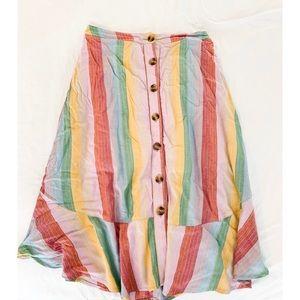 Francesca's button striped skirt